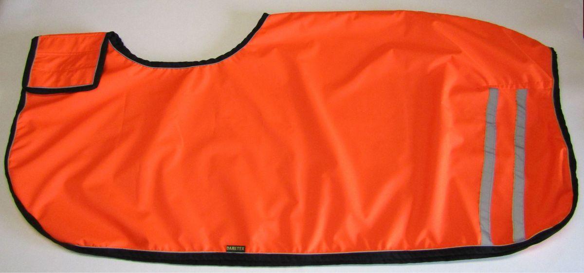 Bederní deka PLÁŠTĚNKA - č.4 - reflexní oranžová Daretex