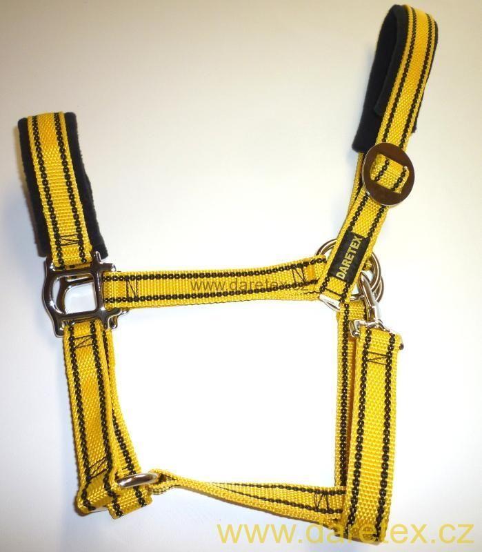 Ohlávka žlutá, výprodej Daretex