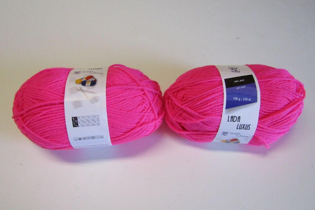 Vlna, akryl, růžová č.50014 Vlnap