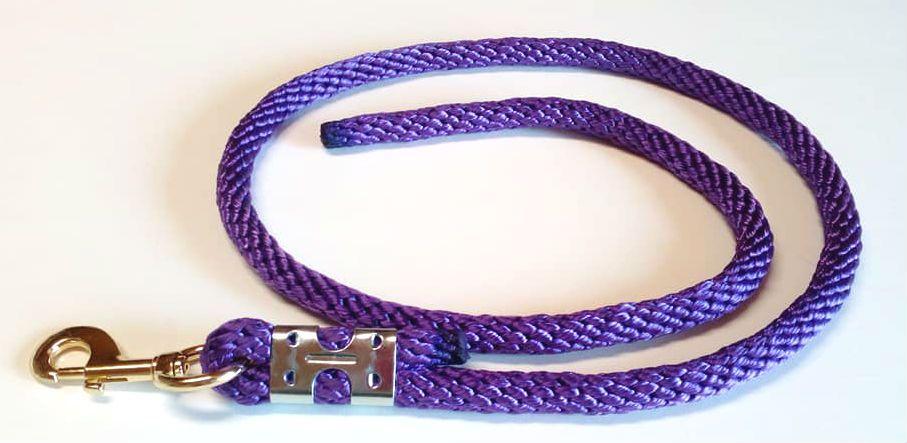 Vodítko Lucinda pro koně - fialové Daretex
