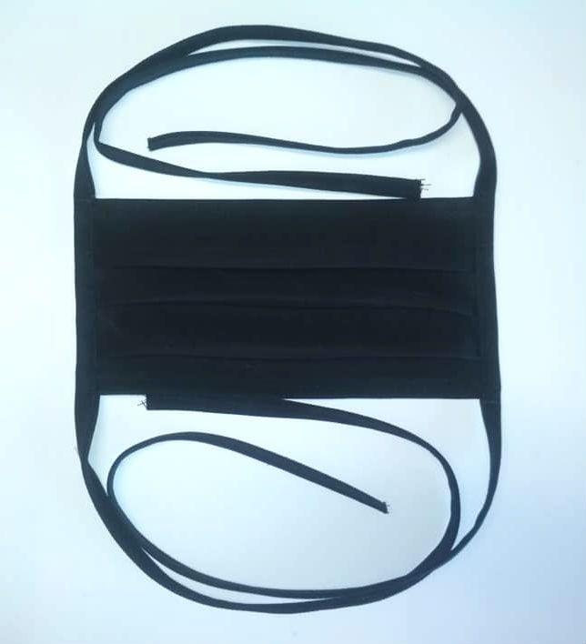 Rouška bavlněná, černá Daretex