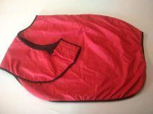 Bederní deka nepromokavá, červená v.135, výprodej