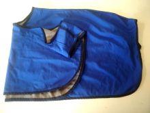 Bederní deka nepromokavá, modrá v.125, výprodej
