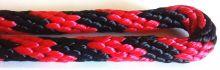Provaz polypropylen dvoubarevný, 16 mm | červený + černý, bílý + černý, fialový + černý, fluores.žlutý + černý, král.modrý + černý, oranžový + černý, růžový + černý, zelený + černý