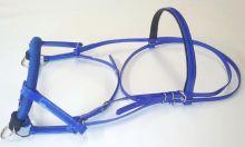 Bezudidlová uzdečka Sidepull, modrá, výprodej