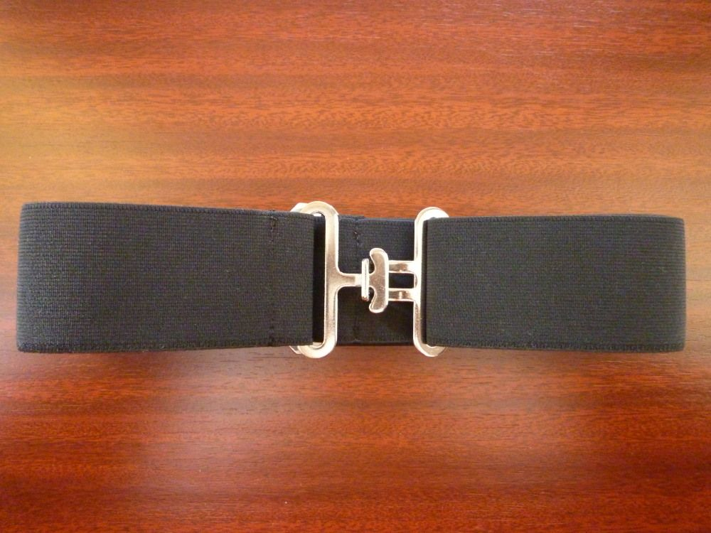 Podbřišník gumový, šíře 5 cm - černá Česká výroba