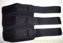 Bandáže pro chrta - černé na obě přední nohy Daretex