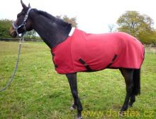Fleecová deka, vínová v.155, výprodej