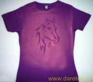 Tričko s koněm, fialové Daretex
