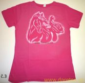 Tričko s koněm typ 3, růžové, výprodej