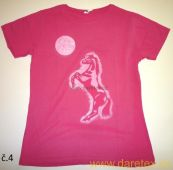 Tričko s koněm typ 4, růžové, výprodej